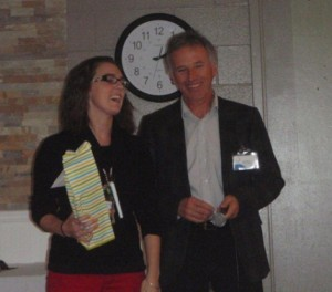 Almonte Country Haven life enrichment aide Jessica Lynch (seen here with OMNI CEO Patrick McCarthy) was one of the staff members recognized at the home's recent award ceremony.