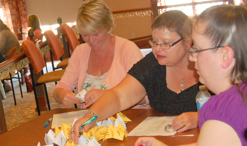 Managers participate in a May 7 quality exercise during the OMNI Health Care Managers' Forum at Fern Resort in Orillia.