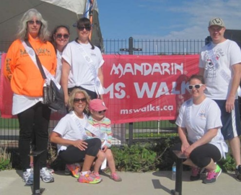 A team put together at Riverview Manor raised $5,000 for this year's Peterborough Mandarin MS Walk.