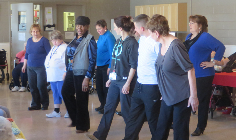 The Hy-Liners, a dancing group, are seen here performing for Almonte Country Haven residents and staff Jan. 22.