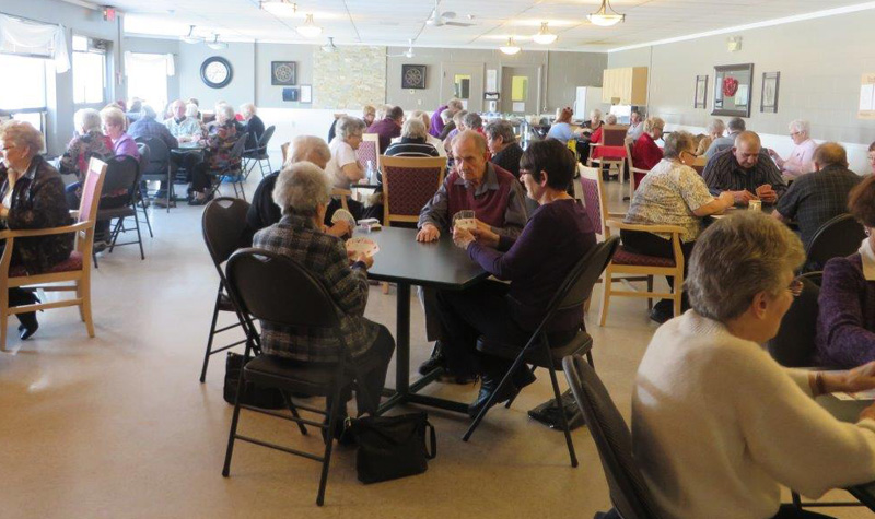 Almonte Country Haven hosted a card-game fundraiser Feb. 14 that brought 54 people to the home.
