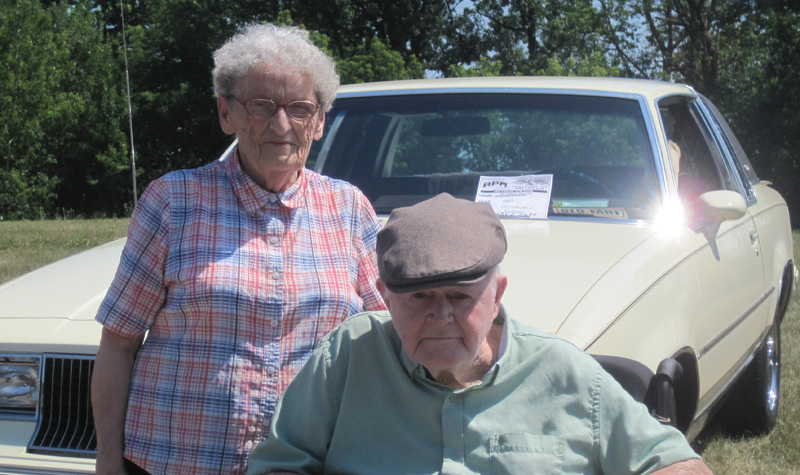 Joe and Aileen Monaghan are seen here during Springdale Country Manor's July 28 car show.
