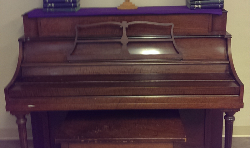 This piano was recently donated to West Lake Terrace.