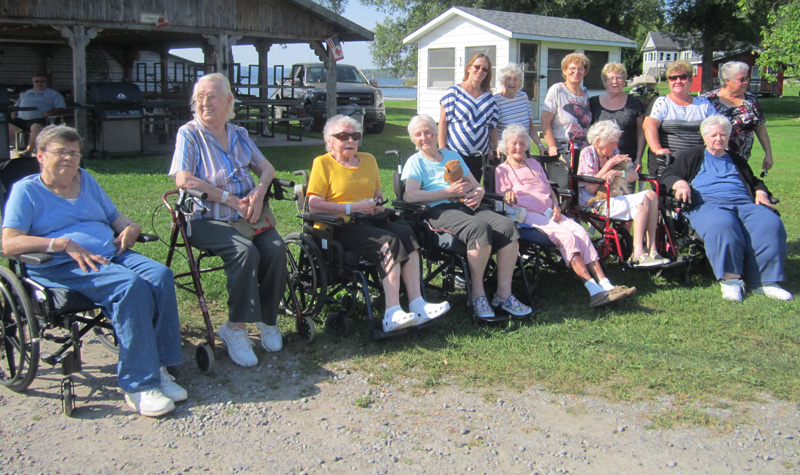 Frost Manor residents are seen here during their recent stay at Camp Cherokee.