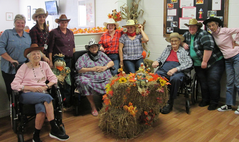 Residents and staff members from Willows Estate recently celebrated Western Day at the Aurora long-term care home.