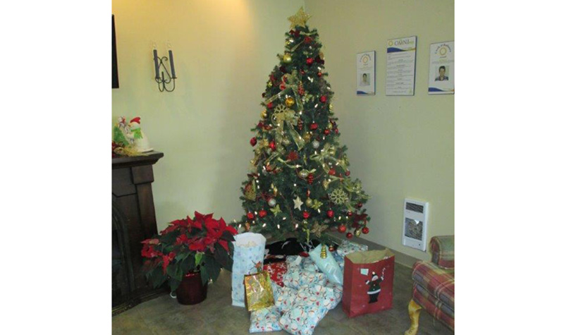 Pleasant Meadow Manor residents' presents are already wrapped and under the home's Christmas tree.