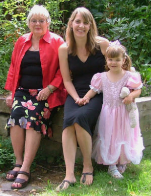 Author Kathryn Harrison is seen in this 2006 photo with her mother, Bonnie, and daughter, Tristin.