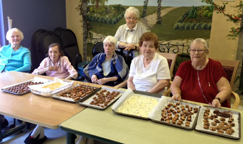 Almonte Country Haven residents helped organize an April 20 volunteer appreciation event at the home. Residents pitched in by baking an assortment of goodies for volunteers.