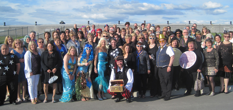 OMNI Health Care managers are seen here at Fort Henry in Kingston, Ont. on May 18 during the organization's leadership forum. Everyone donned their favourite glitzy outfit for the evening's All That Glitters dinner.