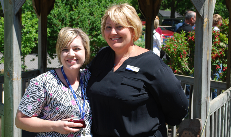 Streamway Villa BSO-RPN Sarah Wilson (left) is seen here holding the Elisabeth Hinton Memorial Award, alongside the home's administrator and DOC Kylie Szczebonski in June. Sarah presented a case study on