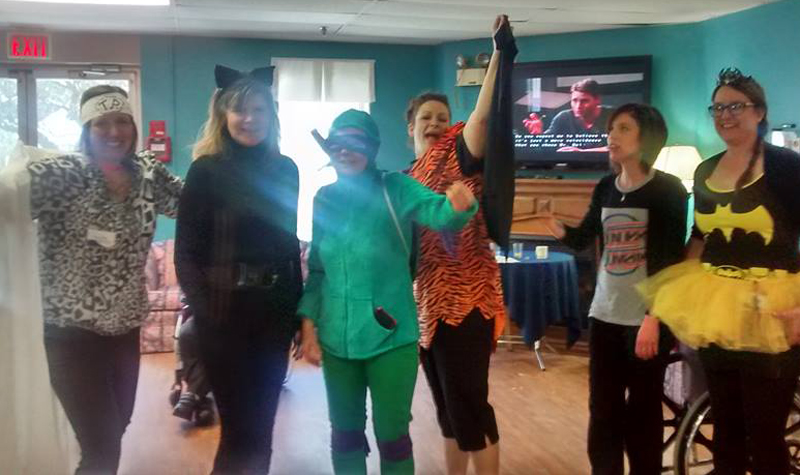 Pictured above, the Maplewood team members dressed up as their favourite superheroes during Nursing Week in May.