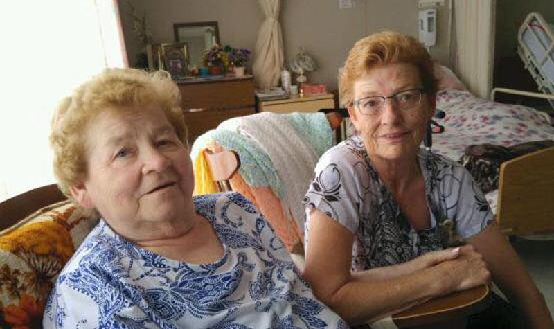 Two Anastasia's: Anastasia (Anna) Chapman sitting with Almonte Country Haven resident Anastasia Coulas.