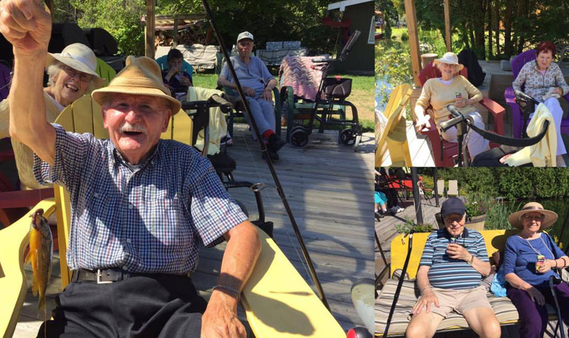 Pictured above, some scenes from Streamway Villa's Aug. 23 trip to Shelter Valley.