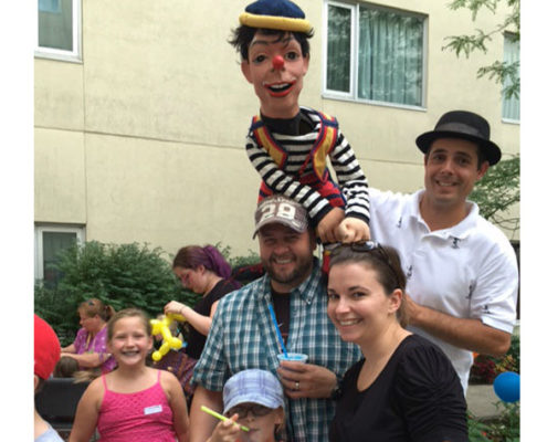 Jeff Bedley enjoying a recent Family Fun Day at Garden Terrace.