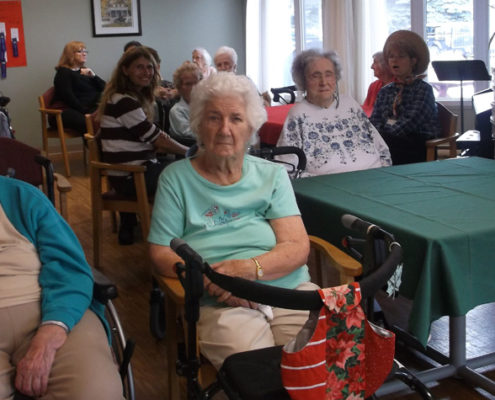 Frost Manor residents, staff members and families are seen here during Apple Fest at the Lindsay long-term care home Sept. 28.